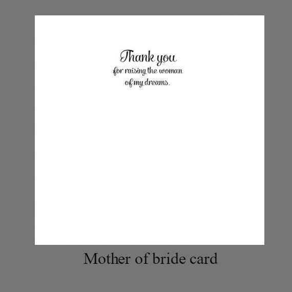 mother of bride and groom message card