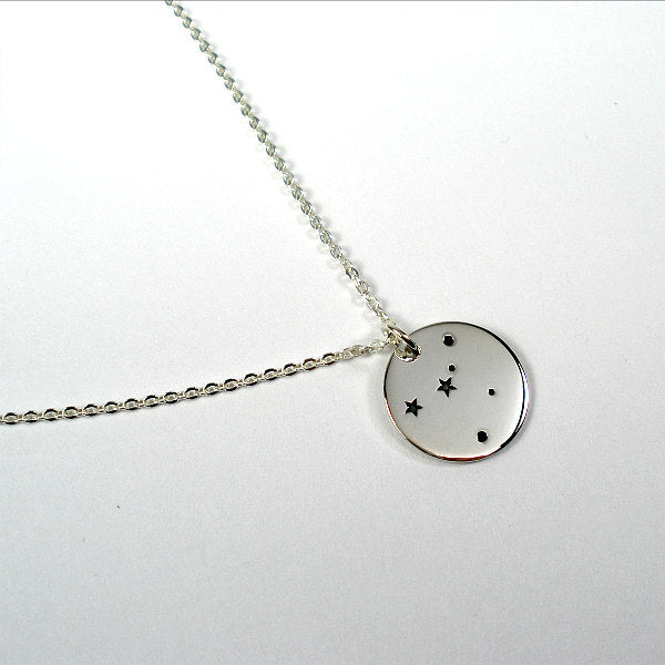 zodiac necklace sterling silver