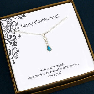 anniversary gift for her silver necklace jewelry