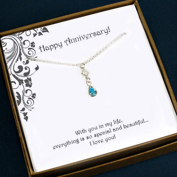 wedding anniversary gift for wife her starringyoujewelry