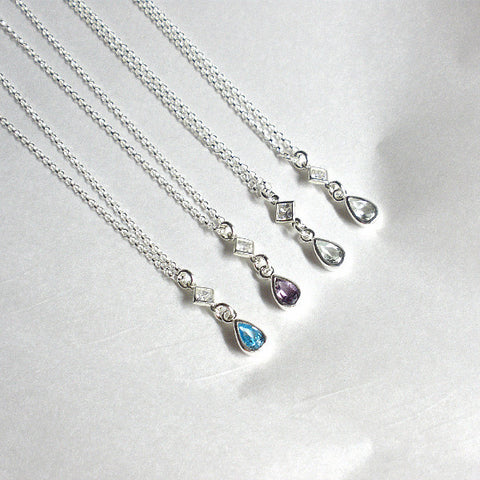 January birthstone garnet necklace birthday gift