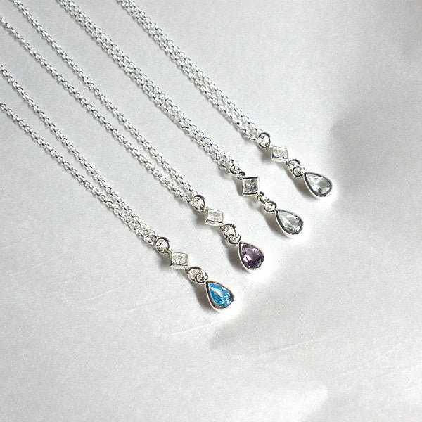 mom gifts birthday Mother's day birthstone mom necklace gemstone