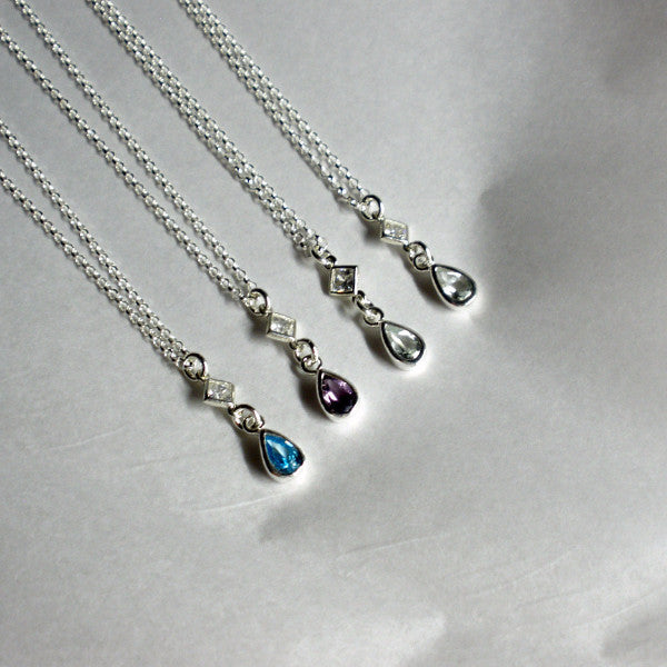 18th Birthday Necklace Sterling Silver Custom Birthstone: Birthstone Necklace, Gemstone Jewelry, Birthday Gifts