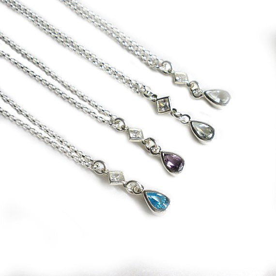 birthstone necklace birthday gifts for women