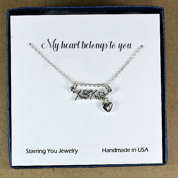 best girlfriend valentine gift dainty silver necklace