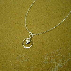 Sterling Silver Infinity Heart Charm Necklace, Dainty Women's Jewelry
