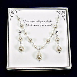 mother of the bride gift pearl wedding jewelry