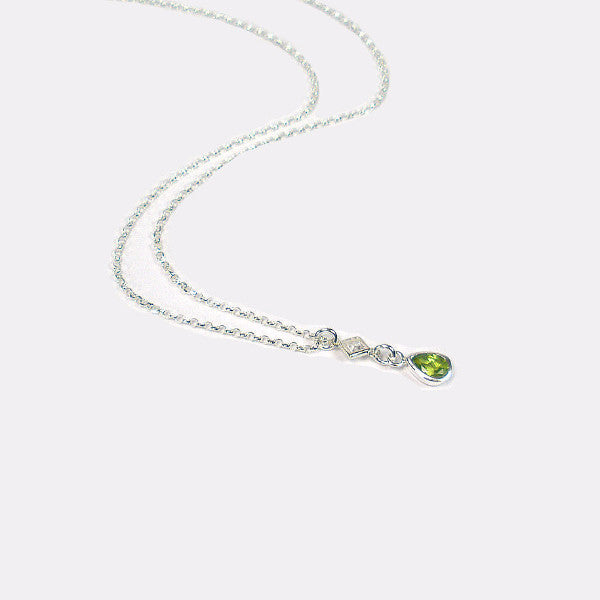 August Birthstone Necklace, Birthday Gifts for Women, Gemstone Jewelry