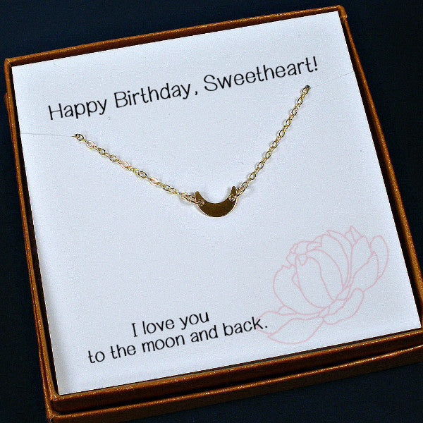 Wedding Gift Ideas For Best Friend Girl: Birthday Gifts For Her, Wife, Girlfriend, Gold Crescent