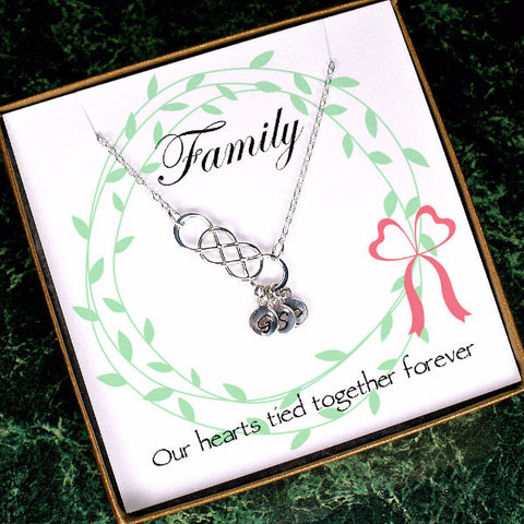 Long Distance Family, Grandma Necklace, Mother In Law Gifts Wedding