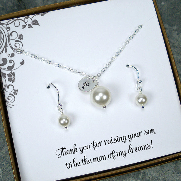 wedding gifts for mother of groom bride pearl jewelry