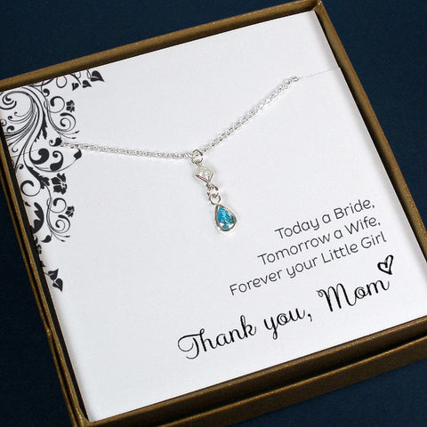 mother of the bride gift mother of groom gift from daughter son wedding mom mothers gemstone jewelry