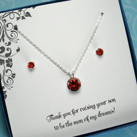 mother of the bride groom gift cz jewelry set