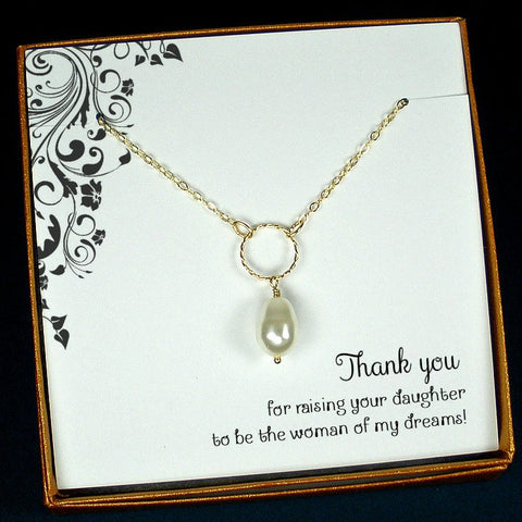 mother bride gifts from groom pearl necklace gold