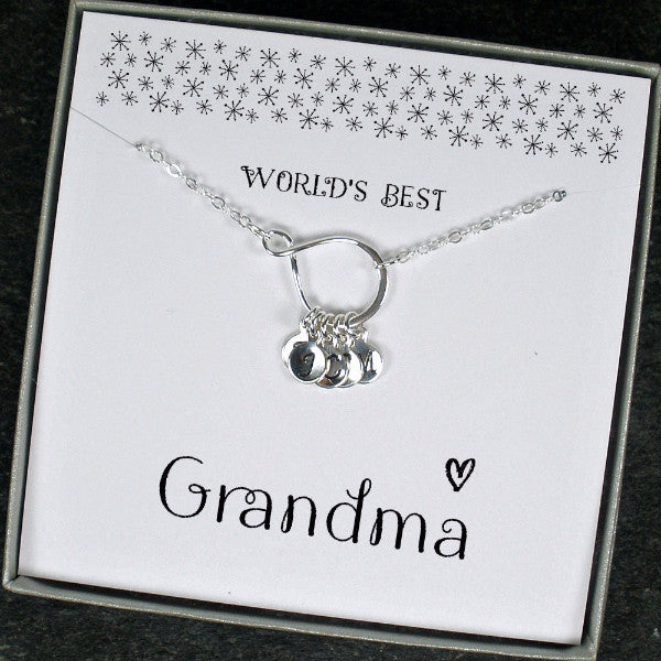 Personalized grandma necklace birthday mothers day for Jewelry for mom for christmas