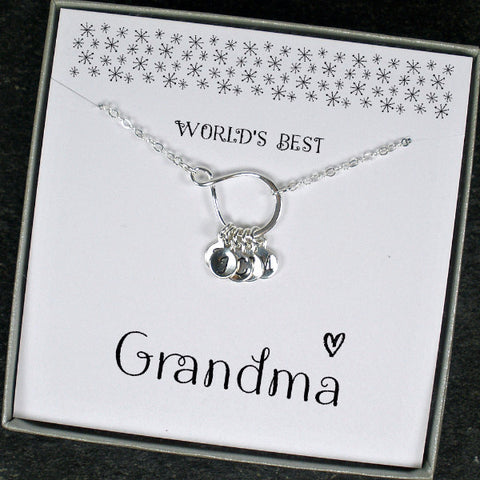 Personalized Grandma Necklace, Birthday, Mothers Day, Christmas Gifts