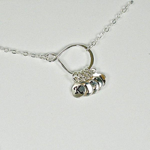 Initial Necklace Personalized Gift Sterling Silver