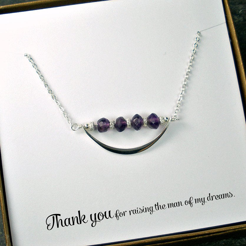 wedding party gifts for mother in law amethyst necklace