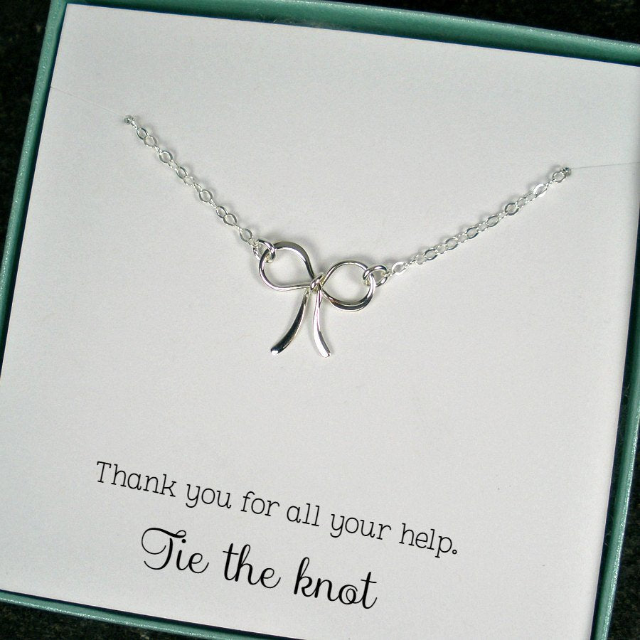 Tie the Knot Necklace Thank You Wedding Party Gifts