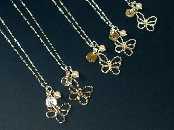 personalized butterfly necklace sterling silver