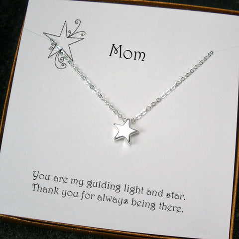 mom gifts from daughter son message card jewelry necklace
