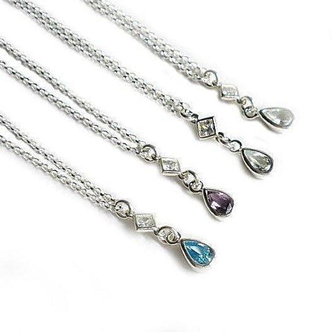 Amethyst February birthstone necklace birthday gifts for women silver