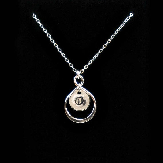 personalized infinity initial necklace women accessories silver