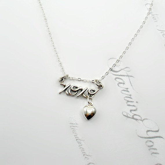 sterling silver xoxo necklace heart charm starring you jewelry