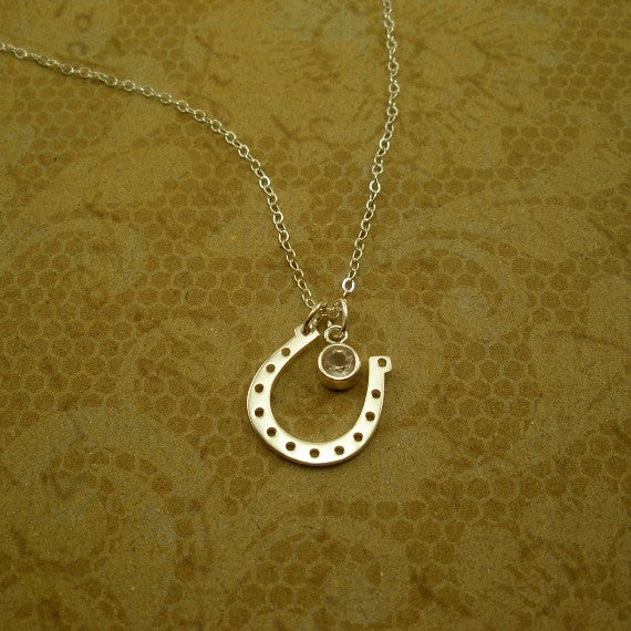 Horseshoe Necklace, Horse Lover Gift, Western Jewelry, Sterling Silver