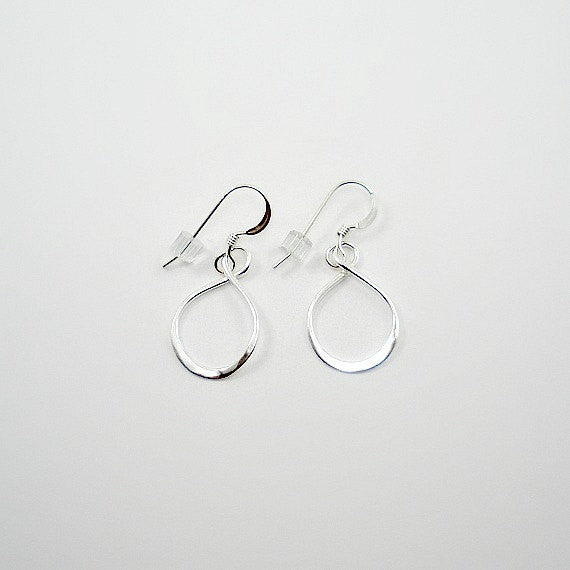 Sterling Silver Infinity Earrings, Simple, Minimalist Earrings, Everyday Jewelry