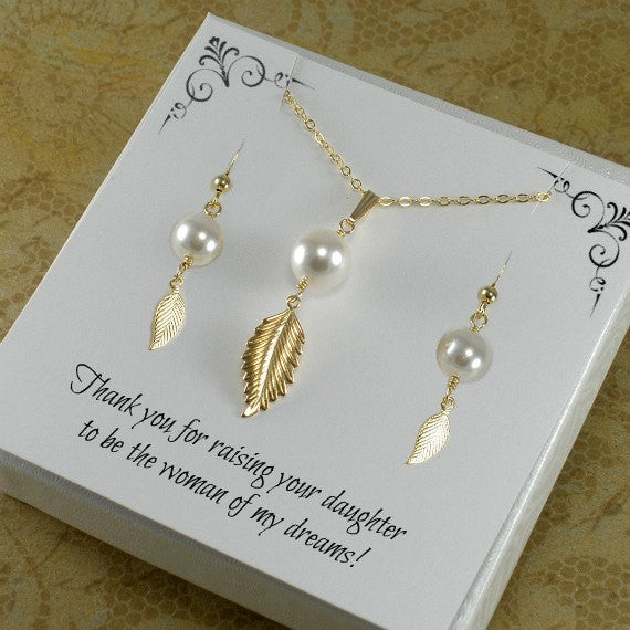 wedding gift for mom pearl jewelry