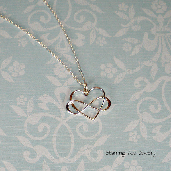 Gifts for Mom Birthday Mothers Day Christmas infinity necklace silver