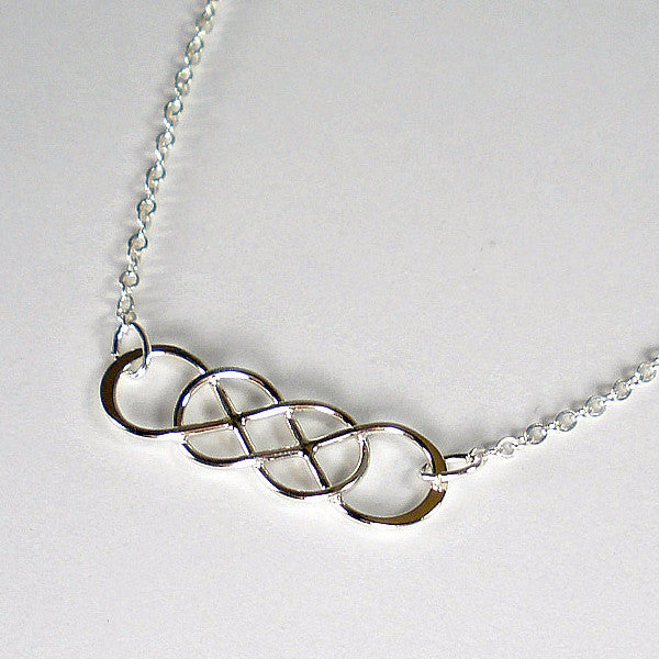 best friend gift infinity friendship necklace sterling silver