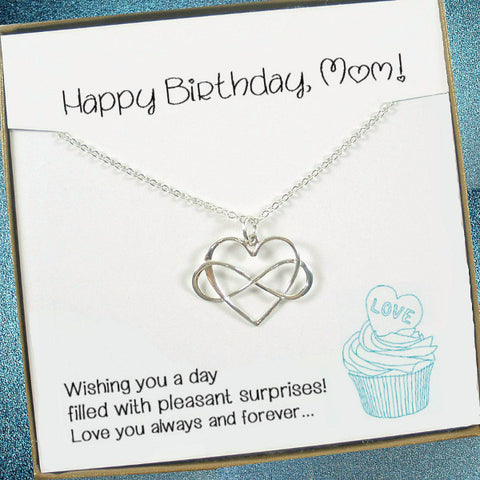 mom birthday best gifts for mom infinity necklace message jewelry