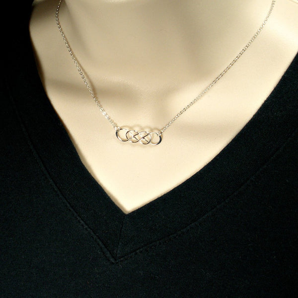 bridesmaid gift infinity necklace will you be my bridesmaid