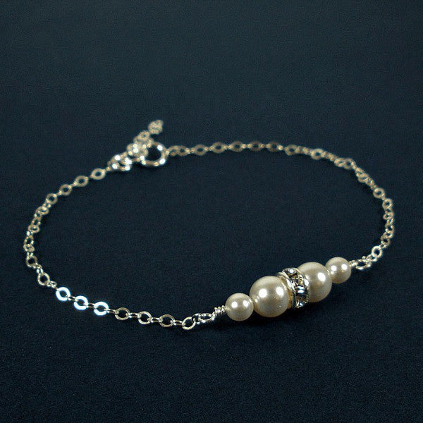 swarovski pearl wedding bracelet jewelry ivory white