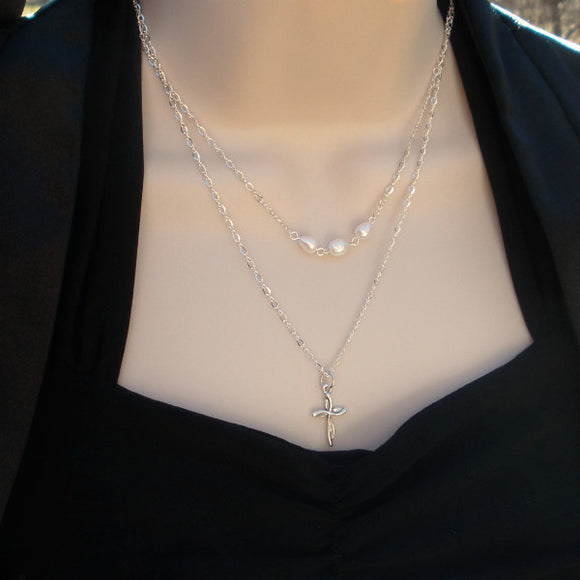 wedding party gifts layered pearl necklace