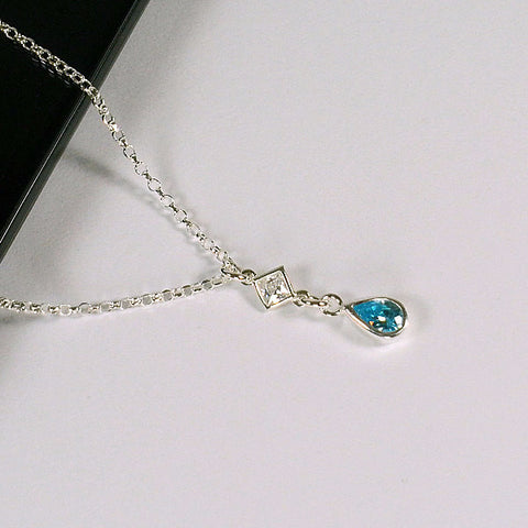 March birthstone necklace gemstone jewelry womens birthday gifts