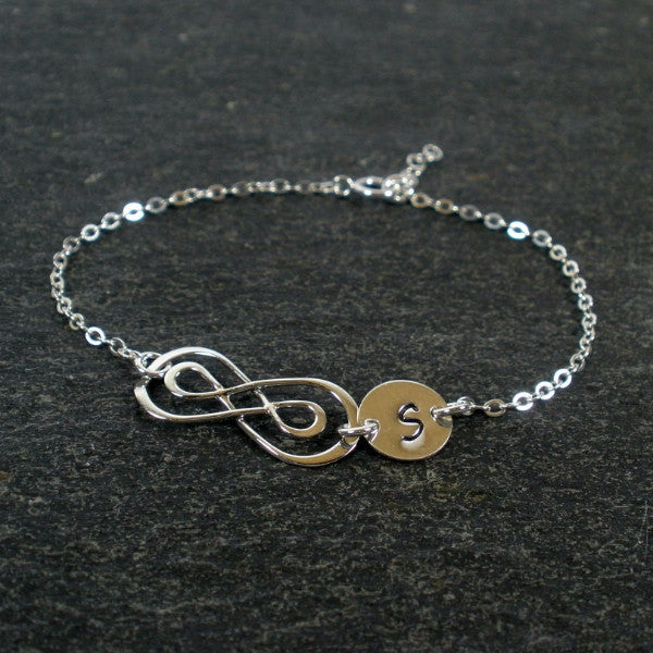 personalized infinity bracelet sterling silver