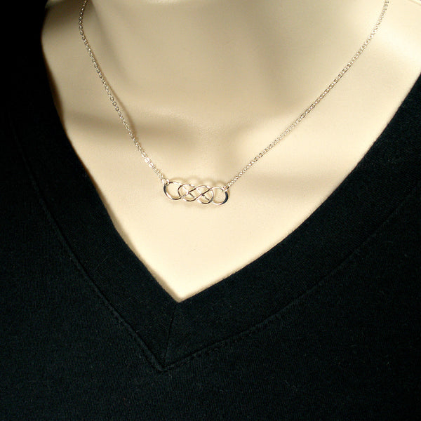 double infinity necklace simple minimal jewelry sterling silver