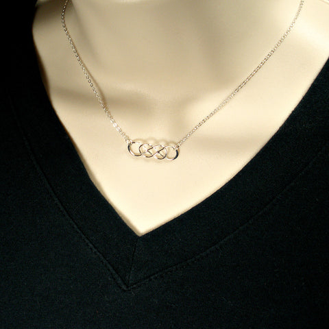 Double Infinity Necklace, Simple Minimal Jewelry, Trendy, Everyday Necklace