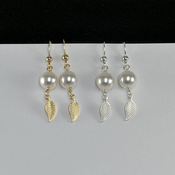trendy leaf jewelry unique handmade womens accessories gold sterling silver
