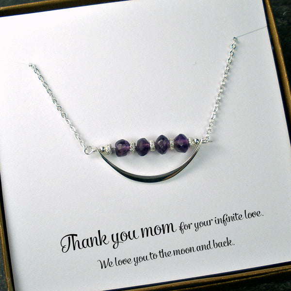 gifts for mom necklace Mother's day birthday jewelry gemstone