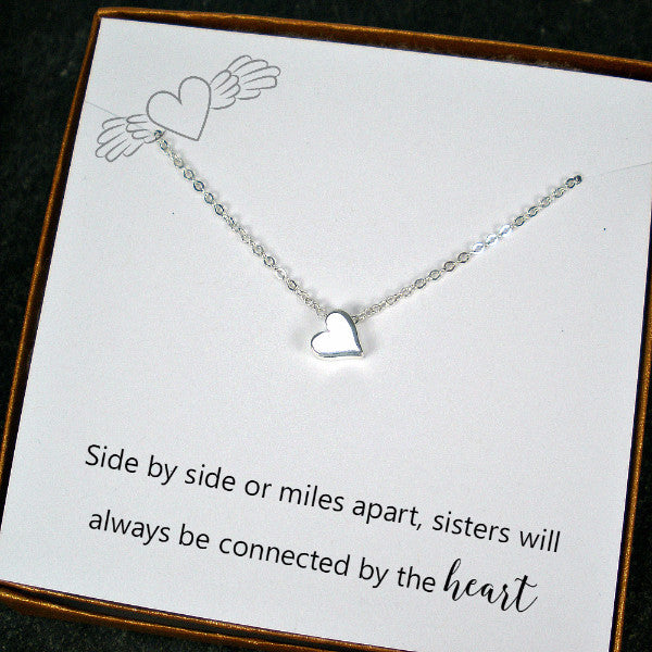 best gift for long distance sister necklace birthday Christmas sterling silver  sc 1 st  Starring You Jewelry & Long Distance Sister Gifts Best Gift for Sister Bead Charm ...