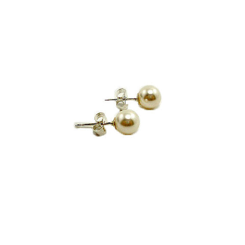 sterling silver small pearl stud earrings