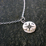 graduation new job gifts compass necklace message card necklace