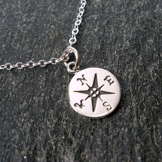 graduation new job gifts sterling silver compass necklace go confidently