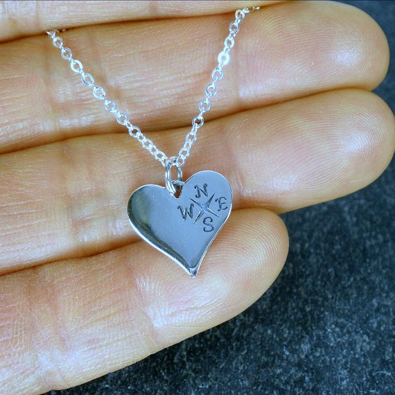 unique best friend gift friendship necklace message jewelry