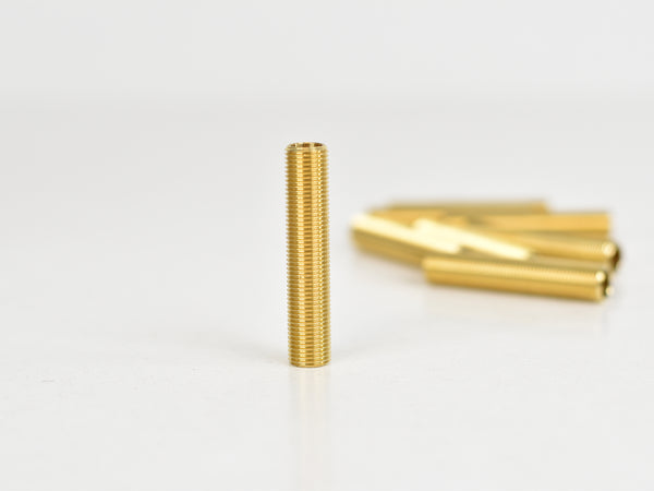 10mm Solid brass all-thread hollow nipples | Various Lengths - Vendimia Lighting Co.