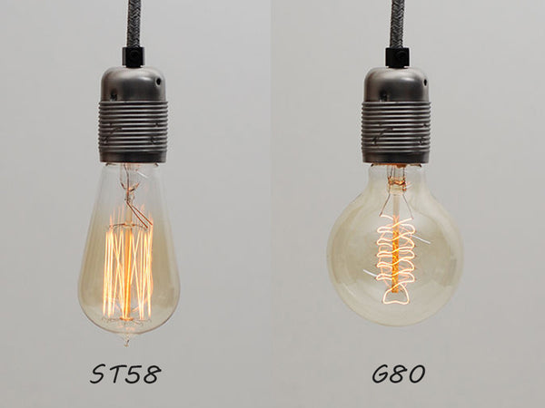 Plug-in Pendant | Twisted Fabric Cable | Antarctic Grey - Vendimia Lighting Co.